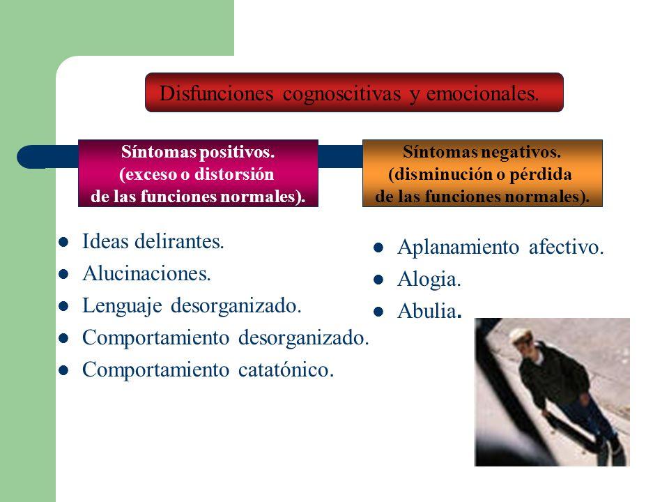 Disfunciones cognoscitivas y emocionales.