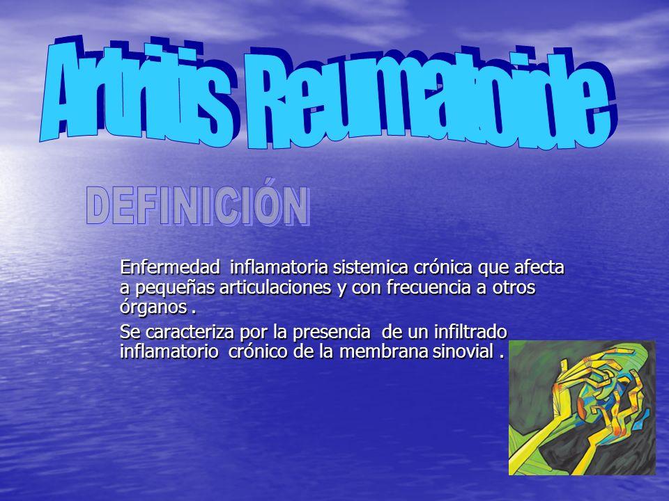 Artritis Reumatoide DEFINICIÓN
