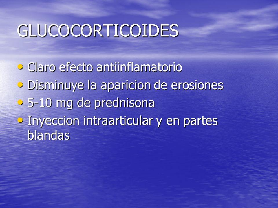 GLUCOCORTICOIDES Claro efecto antiinflamatorio