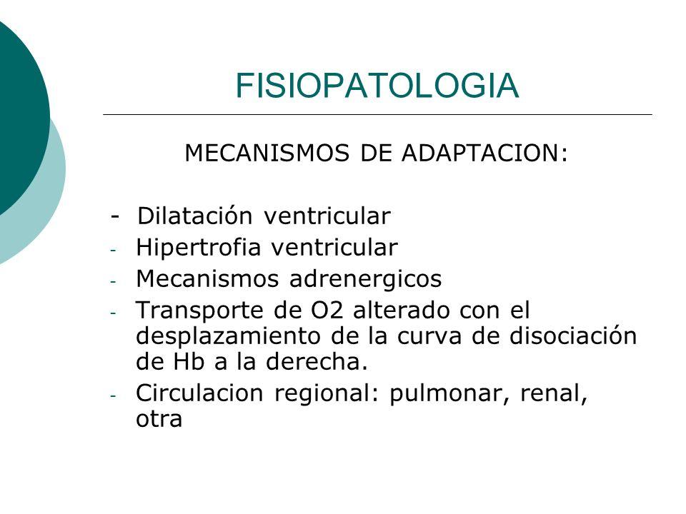 MECANISMOS DE ADAPTACION: