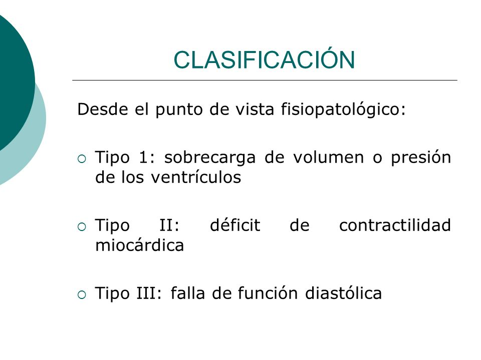CLASIFICACIÓN Desde el punto de vista fisiopatológico: