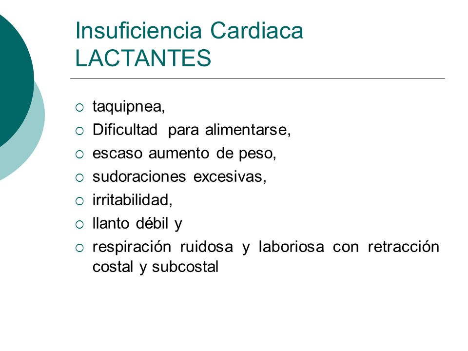 Insuficiencia Cardiaca LACTANTES