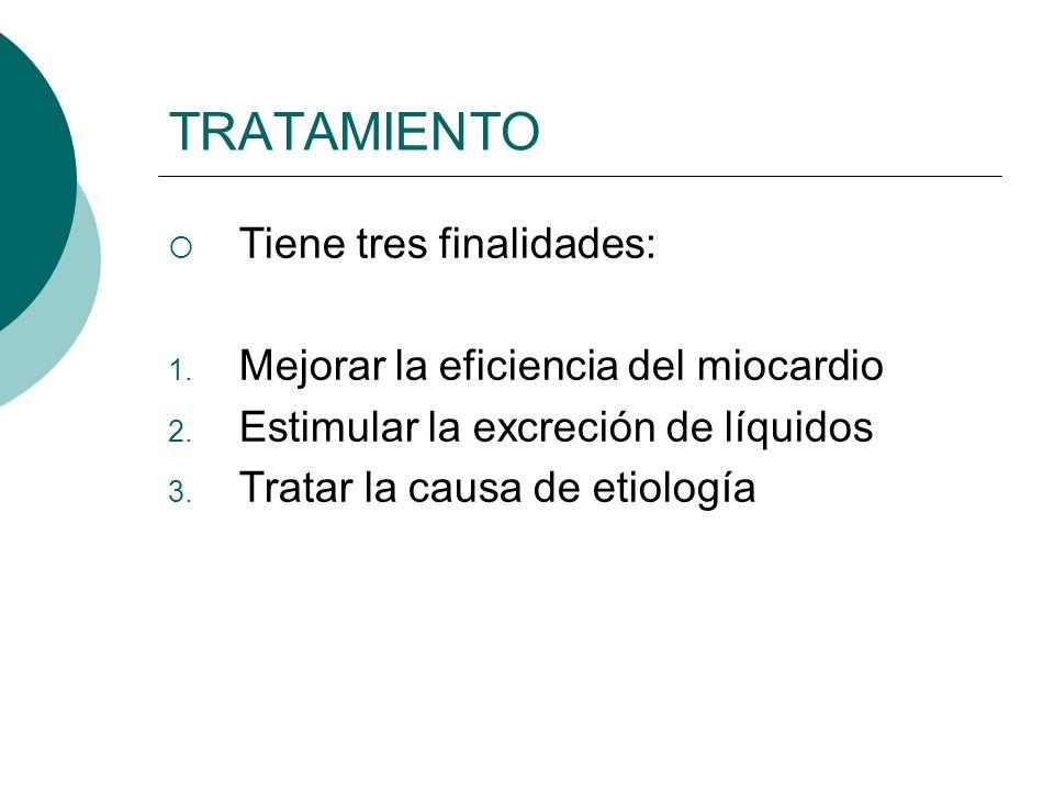 TRATAMIENTO Tiene tres finalidades: