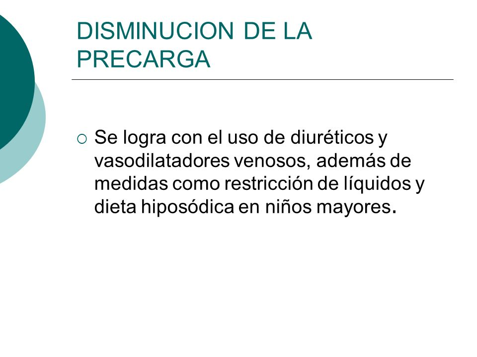 DISMINUCION DE LA PRECARGA