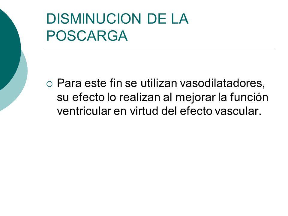 DISMINUCION DE LA POSCARGA