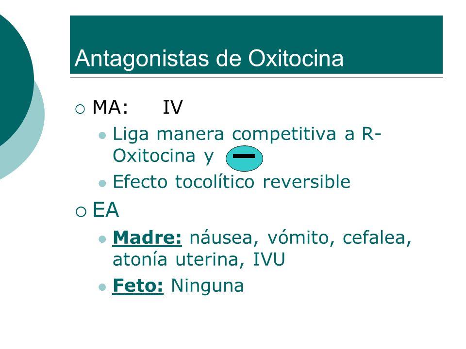 Antagonistas de Oxitocina