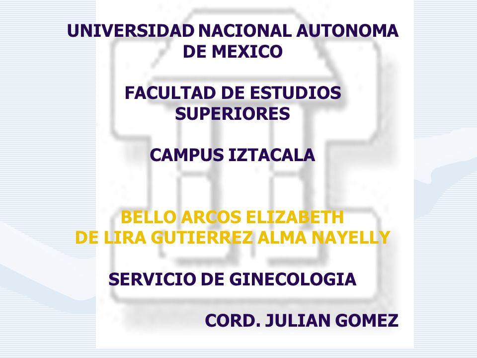 DE LIRA GUTIERREZ ALMA NAYELLY SERVICIO DE GINECOLOGIA