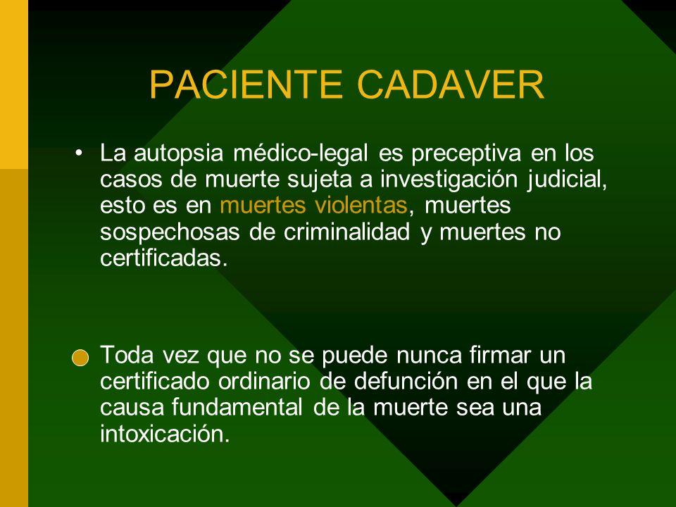PACIENTE CADAVER