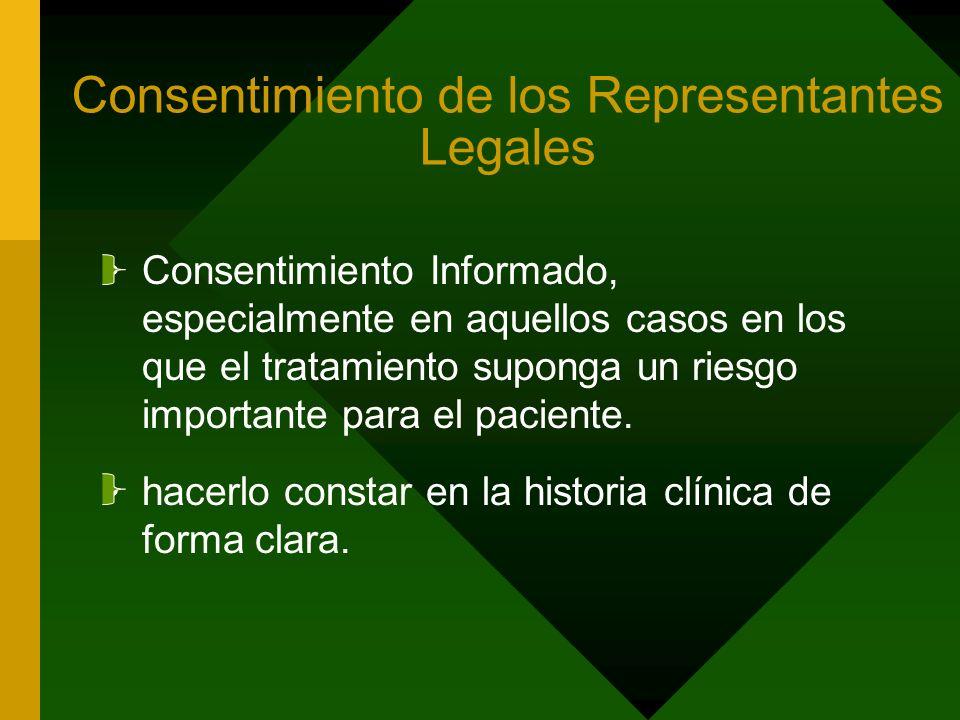 Consentimiento de los Representantes Legales