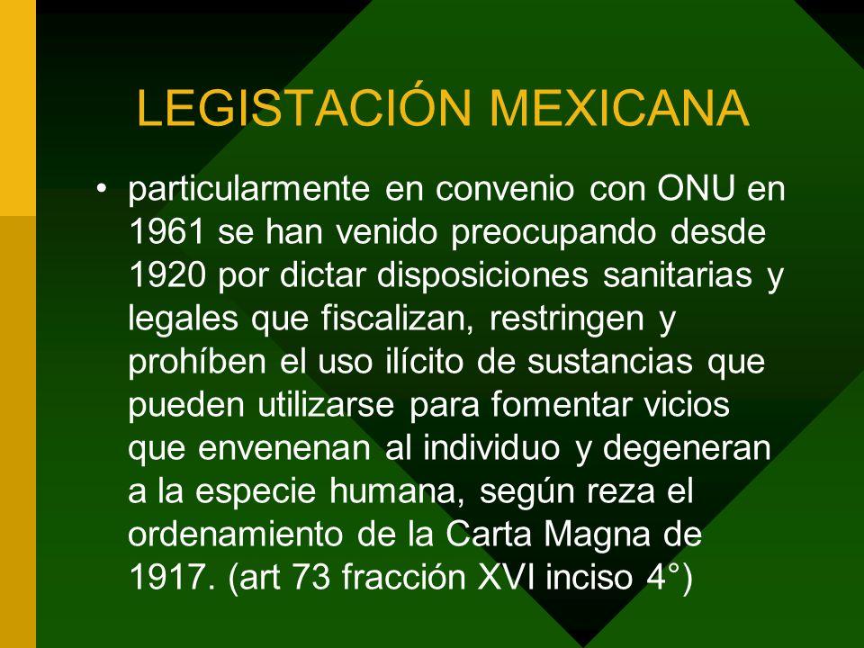 LEGISTACIÓN MEXICANA