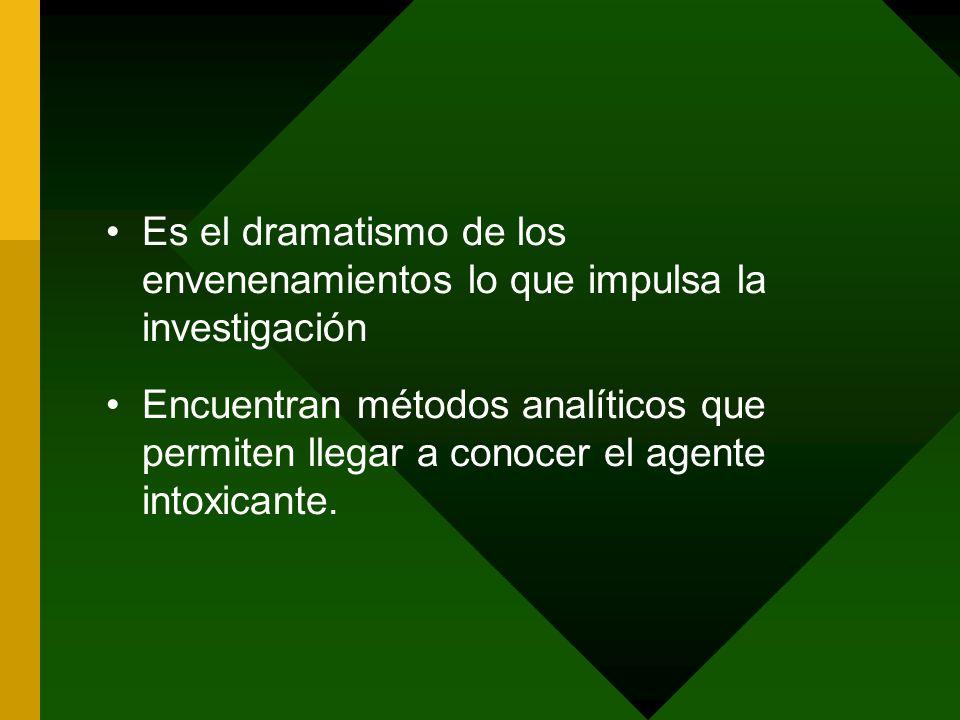 Es el dramatismo de los envenenamientos lo que impulsa la investigación