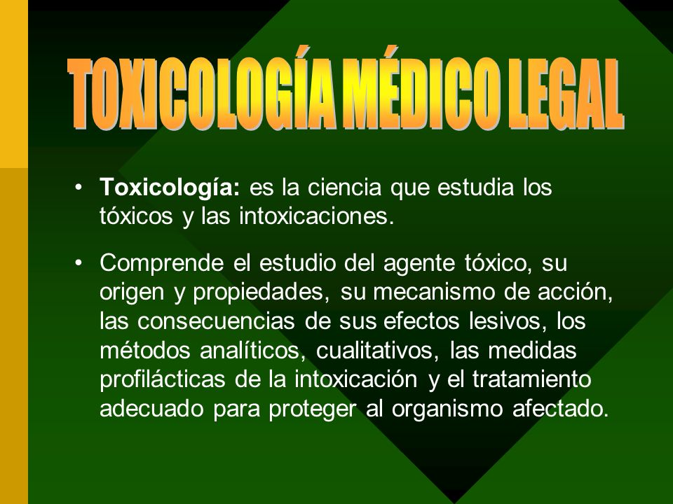 TOXICOLOGÍA MÉDICO LEGAL