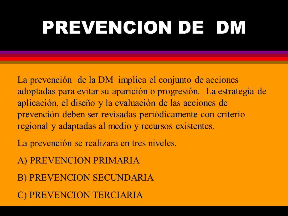 PREVENCION DE DM