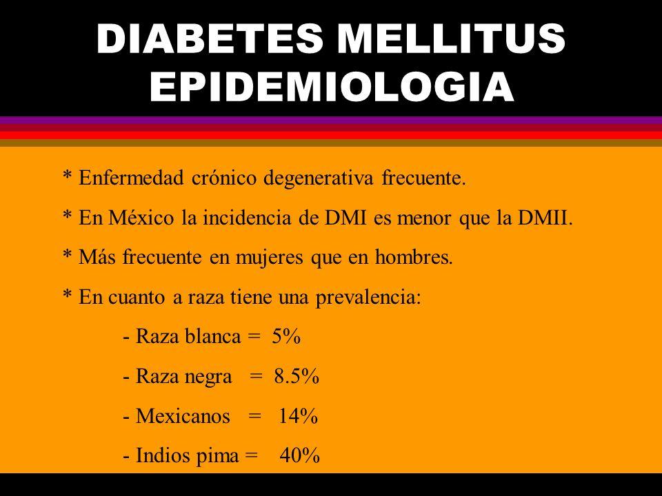 DIABETES MELLITUS EPIDEMIOLOGIA