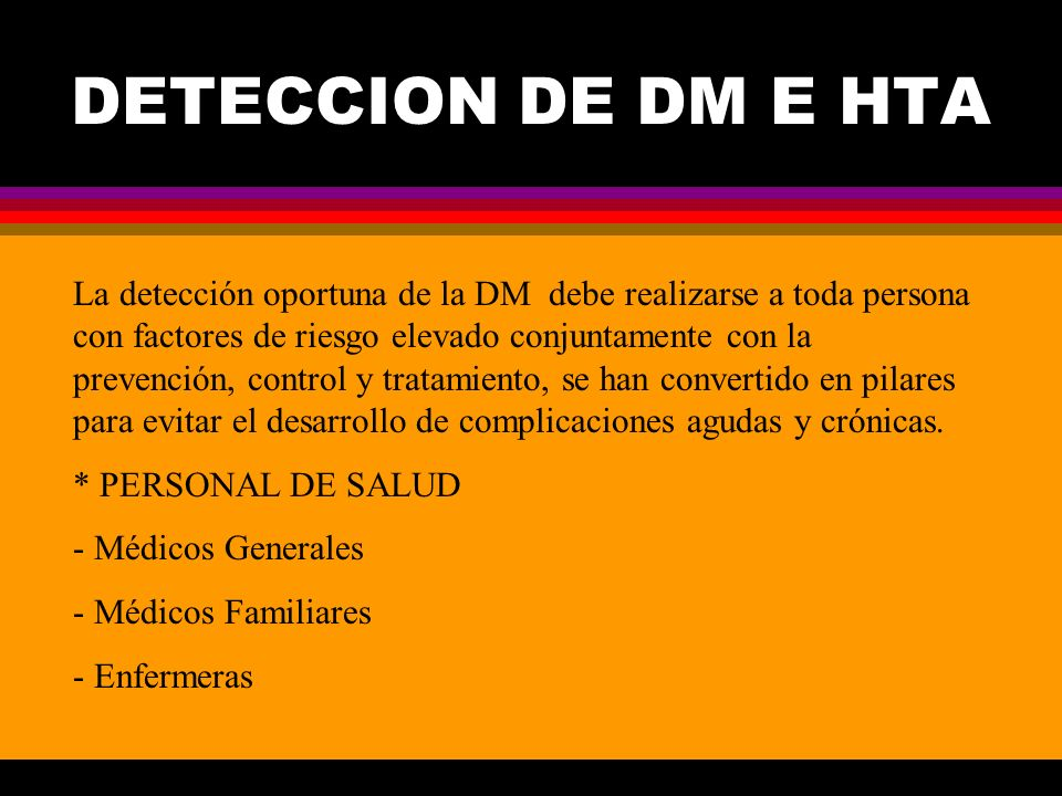 DETECCION DE DM E HTA