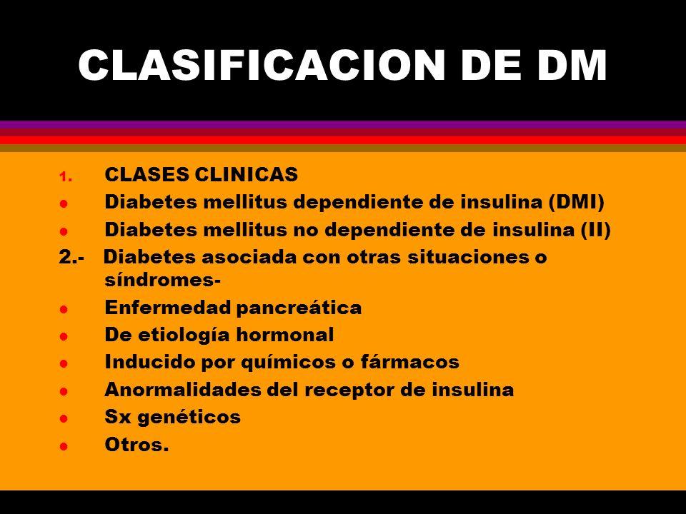CLASIFICACION DE DM CLASES CLINICAS