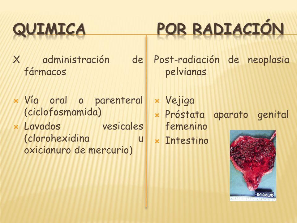 QUIMICA POR RADIACIÓN X administración de fármacos