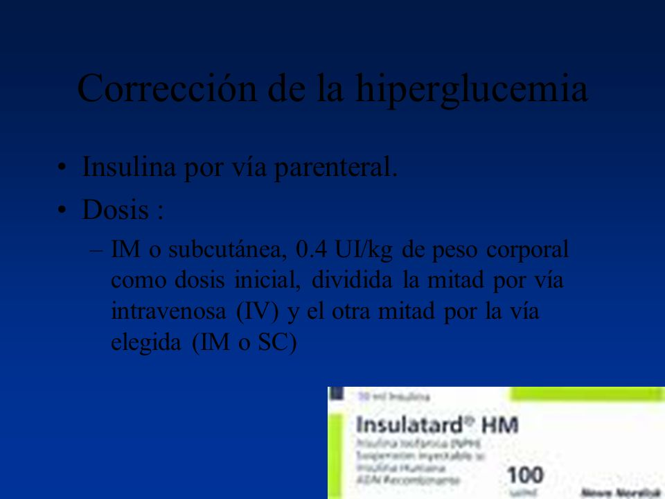 Corrección de la hiperglucemia