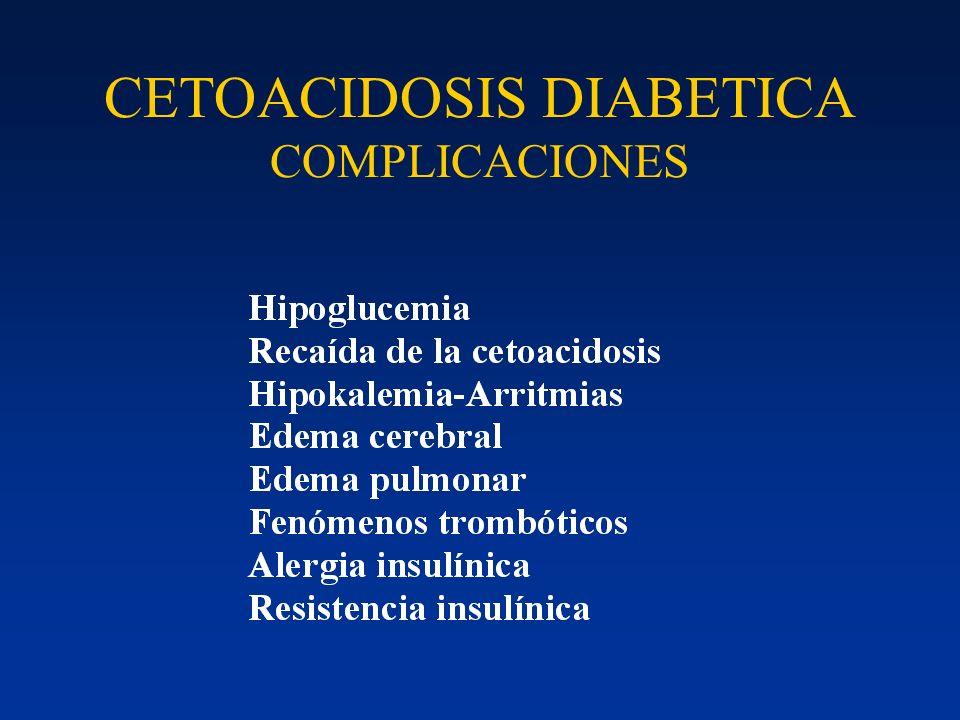 CETOACIDOSIS DIABETICA COMPLICACIONES