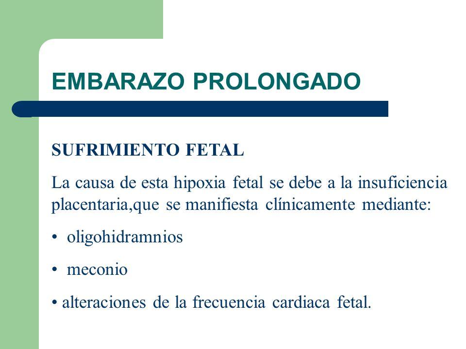 EMBARAZO PROLONGADO SUFRIMIENTO FETAL