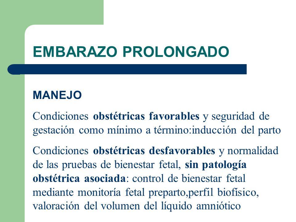EMBARAZO PROLONGADO MANEJO