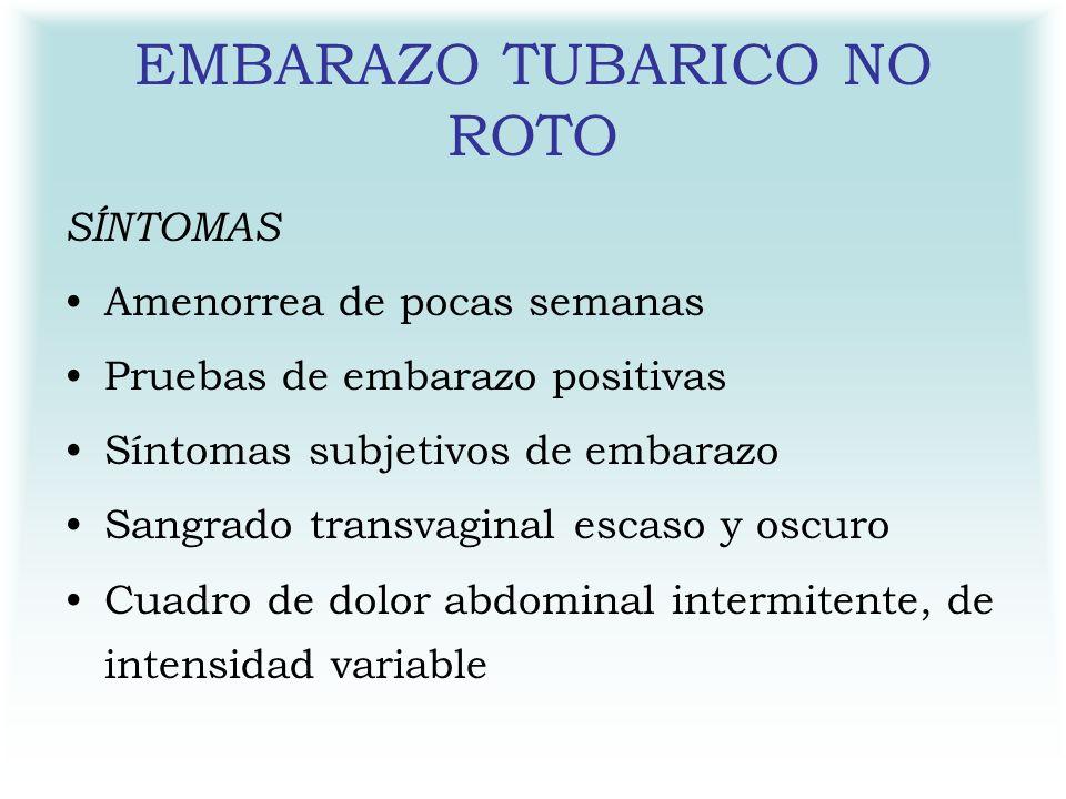 EMBARAZO TUBARICO NO ROTO