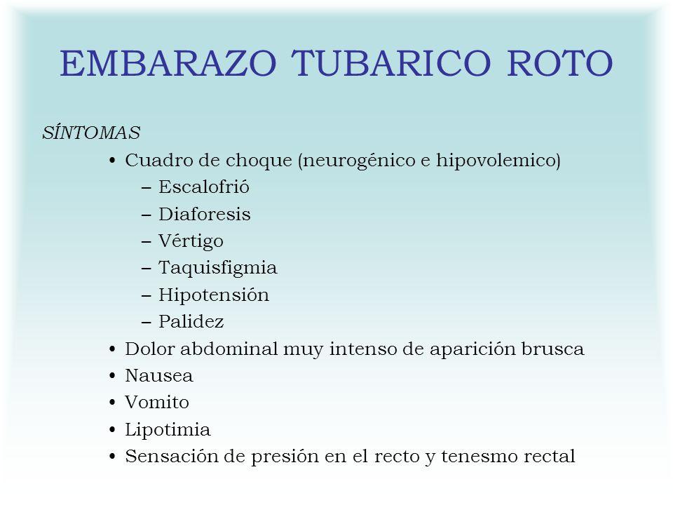 EMBARAZO TUBARICO ROTO