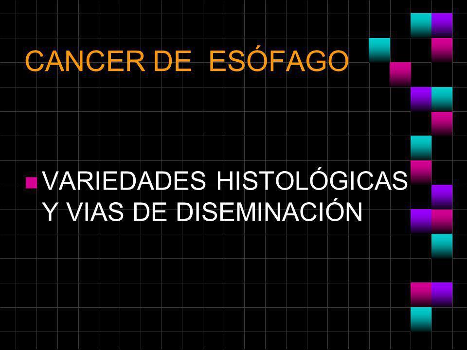 CANCER DE ESÓFAGO VARIEDADES HISTOLÓGICAS Y VIAS DE DISEMINACIÓN