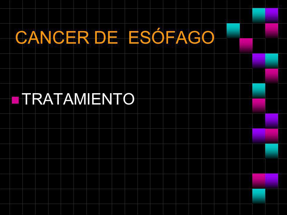 CANCER DE ESÓFAGO TRATAMIENTO