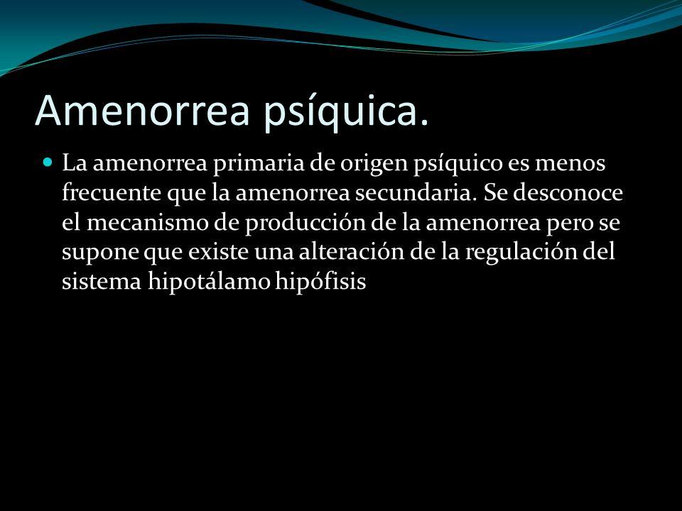 Amenorrea psíquica.