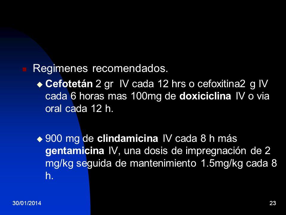 Regimenes recomendados.