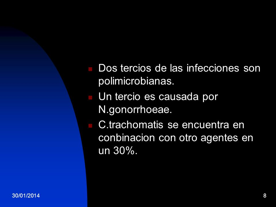 Dos tercios de las infecciones son polimicrobianas.
