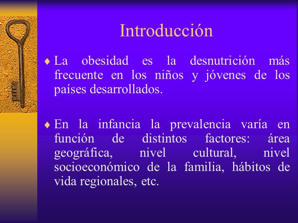IntroducciónLa obesidad es la desnutrición más frecuente en los niños y jóvenes de los países desarrollados.