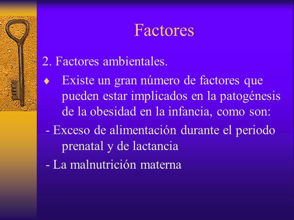 Factores 2. Factores ambientales.