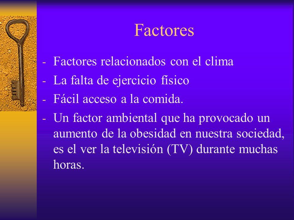 Factores Factores relacionados con el clima
