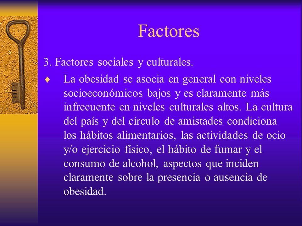 Factores 3. Factores sociales y culturales.