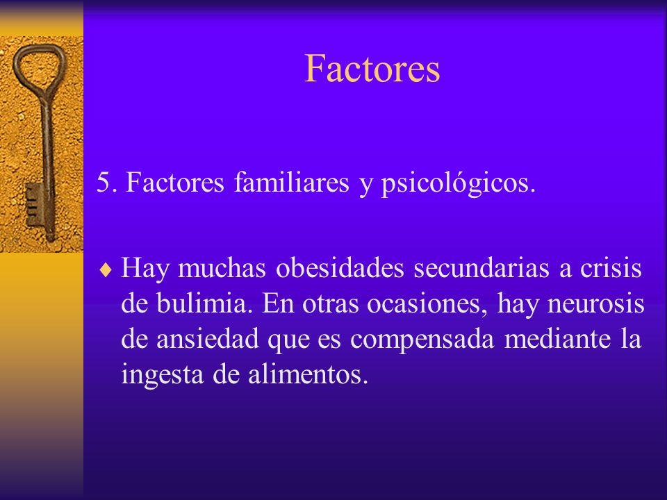 Factores 5. Factores familiares y psicológicos.