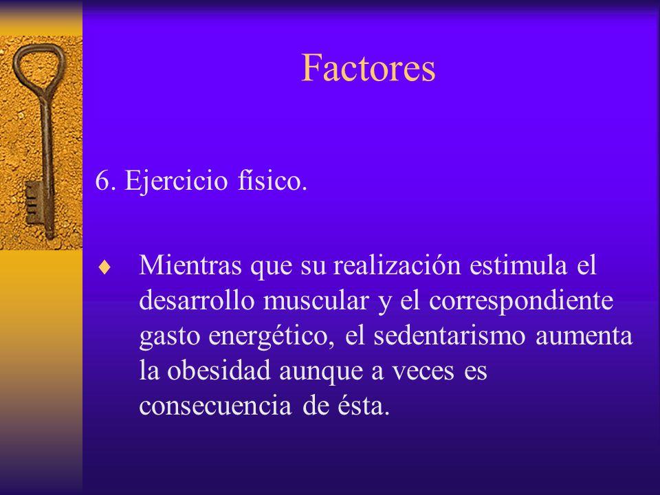 Factores 6. Ejercicio físico.