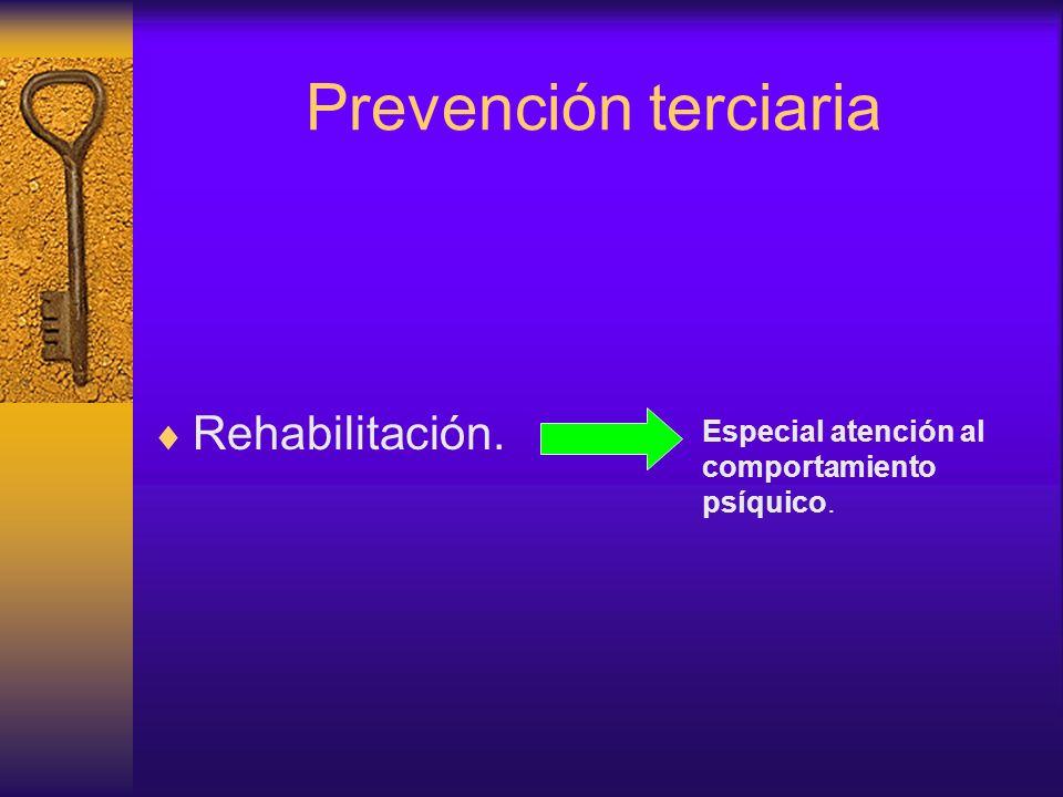 Prevención terciaria Rehabilitación.