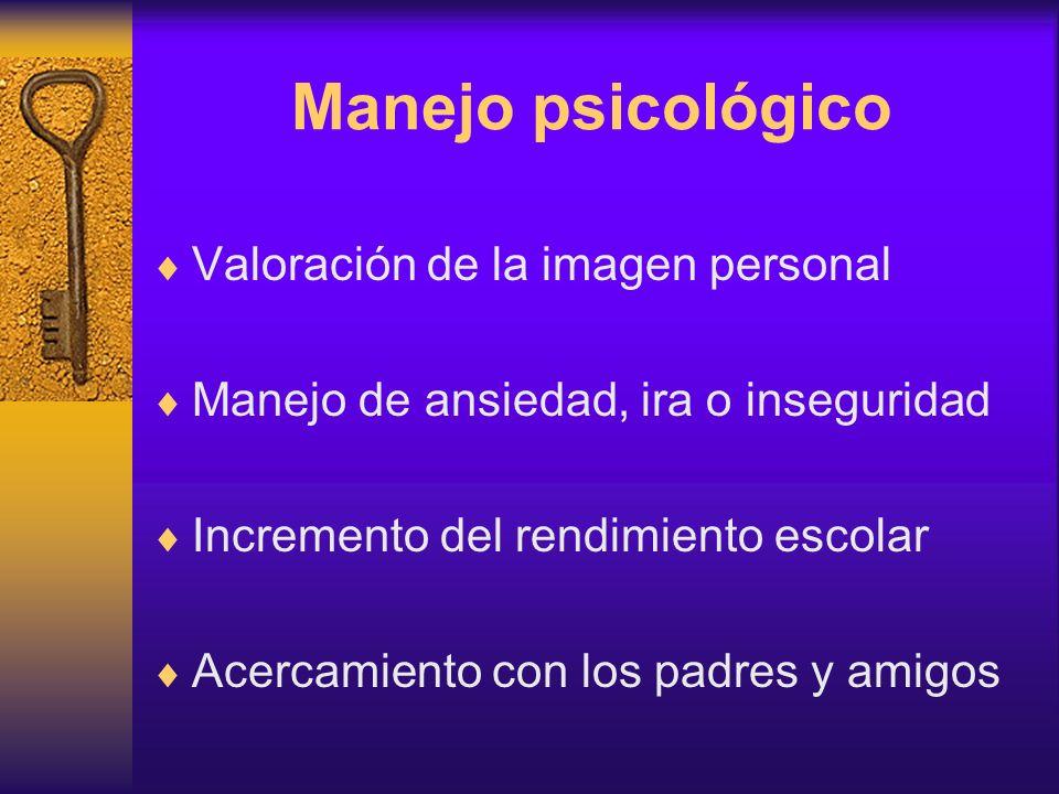 Manejo psicológico Valoración de la imagen personal