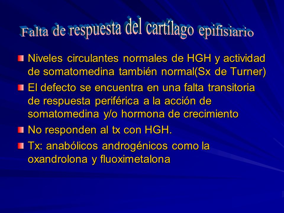 Falta de respuesta del cartílago epifisiario