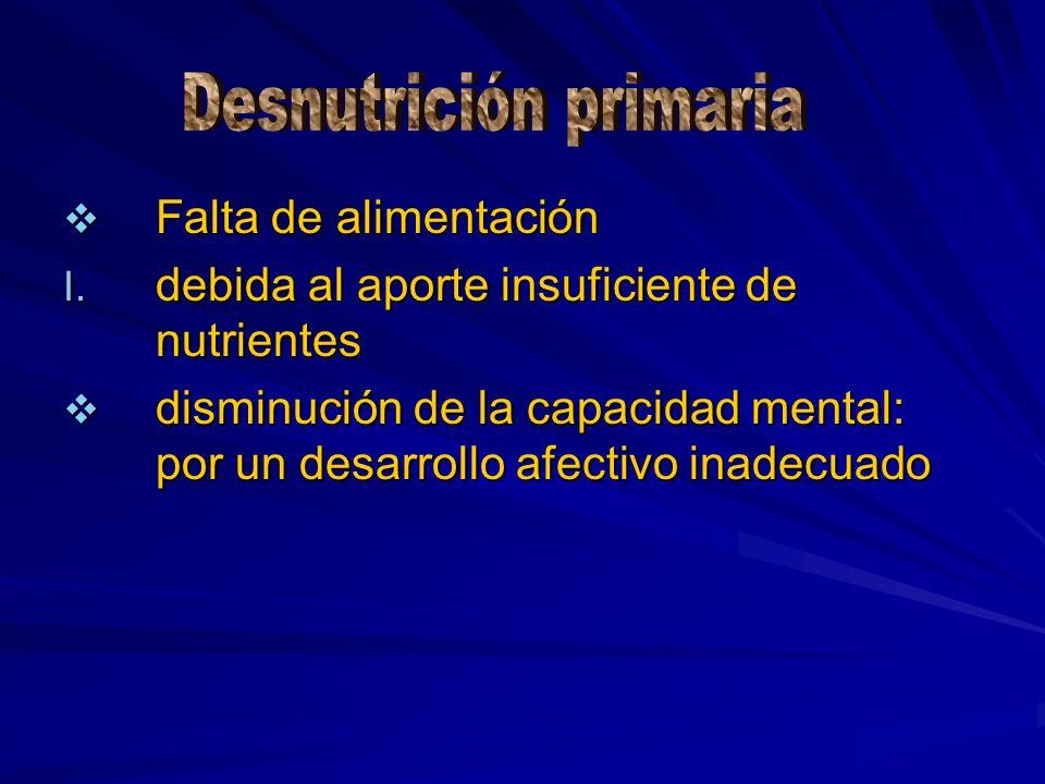 Desnutrición primaria