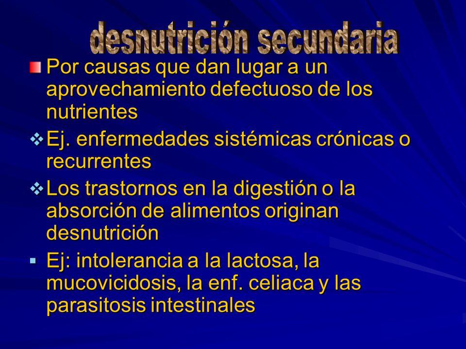 desnutrición secundaria