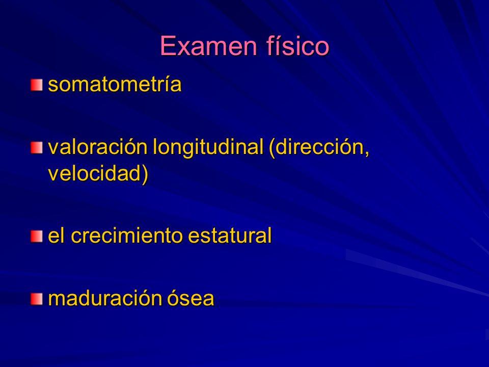 Examen físico somatometría