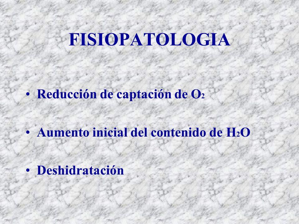 FISIOPATOLOGIA Reducción de captación de O2