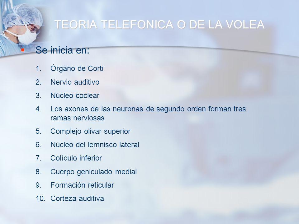 TEORIA TELEFONICA O DE LA VOLEA