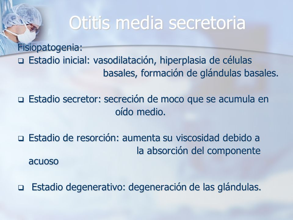 Otitis media secretoria