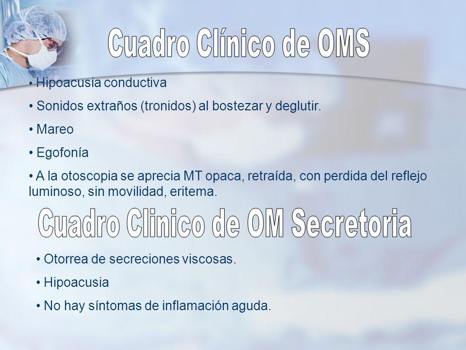 Cuadro Clinico de OM Secretoria