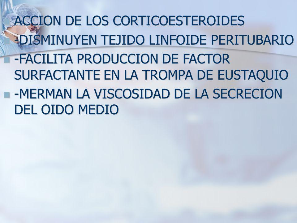 ACCION DE LOS CORTICOESTEROIDES
