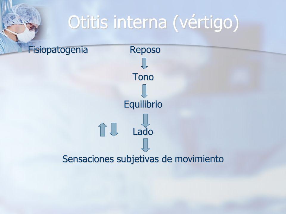 Otitis interna (vértigo)